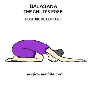 Balasana - la posture de l'enfant - the child pose