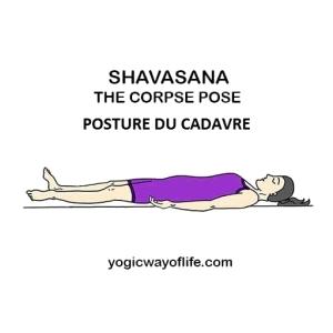 Shavasana - la posture du cadavre - the corpse pose