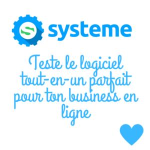 Systeme.io le couteau suisse du business en ligne