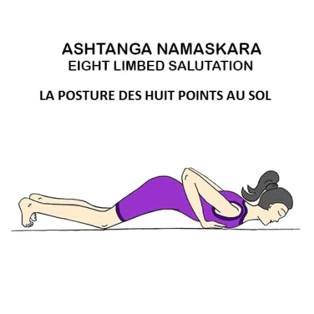 Ashtanga Namaskara - la posture des huit points au sol - the eight limbed salutation
